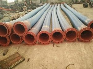 大口径耐磨耐用橡胶钢丝管